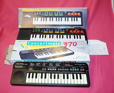 Vintage REALISTIC CONCERTMATE 370 Electronic Sampling Keyboard w/ Tested Working
