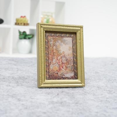 Girl Mural Wall Picture In Photo Frame For 1:12 Dollhouse Miniature FurniturePro