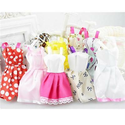 10PCS Fashion Doll Dress Clothes For Barbie Dolls Style Baby Toys Cute Gift B