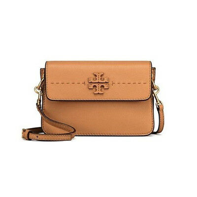 dd312da8d0c5 TORY BURCH MCGRAW Crossbody Womens Leather Bag Shoulder Free Gift NWT  Baguette -  239.00