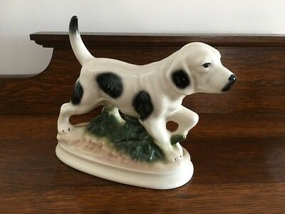 1940,s  DOG FIGURINE ENGLISH CHINA PERFECT CONDITION