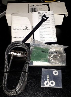 Targus Notebook Security Defcon CL Combo Cable Lock Model: PA410BX