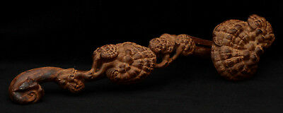 Chinese wooden carved ruyi scepter