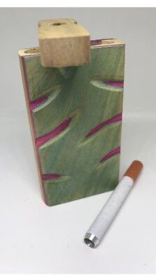 "Wooden Dugout Set with pipe 4"" Spring Loaded (One Hitter)FREE SHIPPING!😃"