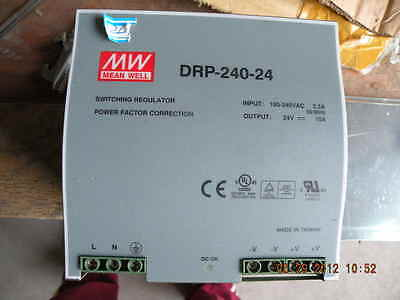 MW MEAN WELL DRP-240-24 switching regulator Power Facto