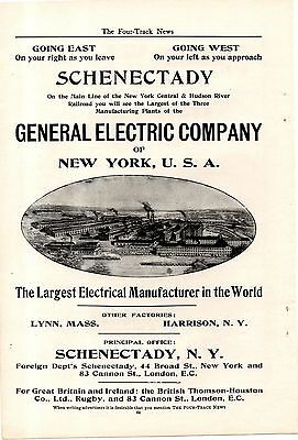 1904 General Electric Company Ad-Schenectady,ny Factory