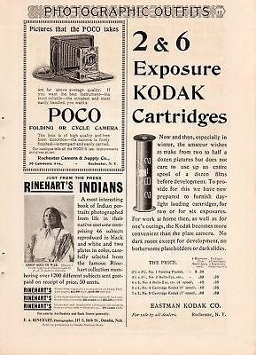 1900 Rinehart's Indian Portraits Ad-Sioux Chief Goes To War
