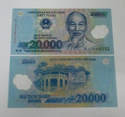 Vietnam 20000 Dong Banknote 1 Piece 2012 Series New Condition