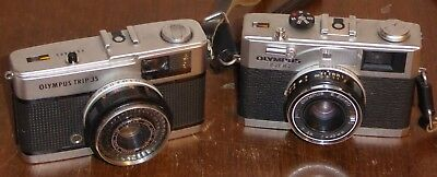 Olympus Trip 35 and 35RC cameras, both need slight attention