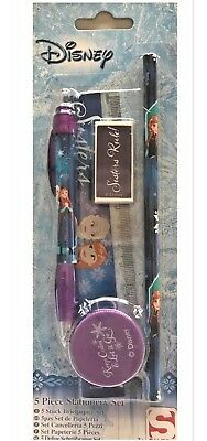Disney Frozen 5PC Stationery Set for party bags/party favour BACK TO SCHOOL SET