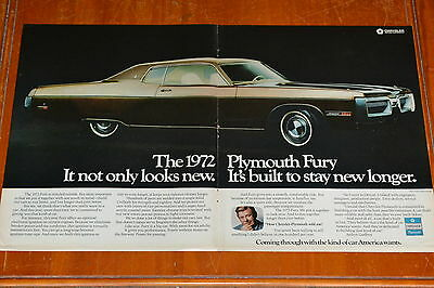 1972 PLYMOUTH FURY COUPE AMERICAN 70s LARGE AD