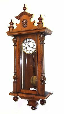 Antique Walnut Vienna Striking Wall Clock JUNGHANS : Strikes Hour & Half Past