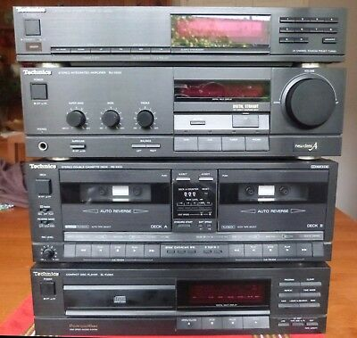 Technics Stack System, incl Tuner, Amp, CD & Cassette Players