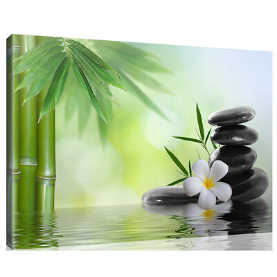 Unframed Bamboo River Modern Art Canvas Painting Picture Print Home Wall Decor