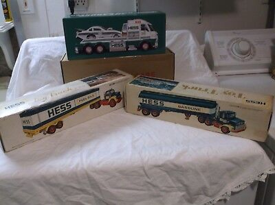 Bundle lot-1976, 1977 & 2016 Hess truck-All complete with working lights