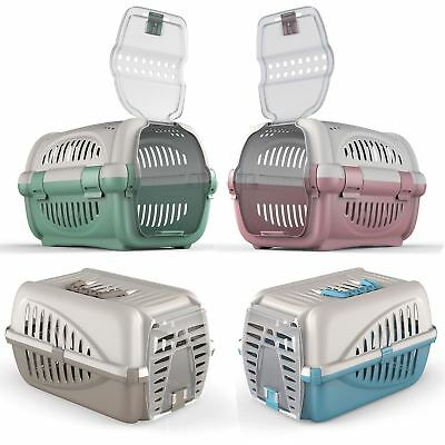 Pet Premium Carrier Kitten Cat Dog Transport Travel Box Cage Vet Carry