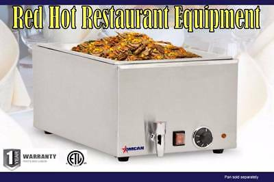 Omcan 19076 Merchandiser Food Soup, Chili Cheese Warmer With Drain FW-CN-0023