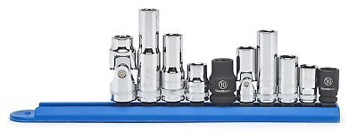 """GearWrench 80319 10 Pc. 1/4""""  3/8"""" Drive 6 Point 10mm Socket Set"""