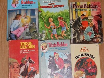 Mixed Lot Trixie Belden Mystery Books - Cameo Cello Big Head - Look1