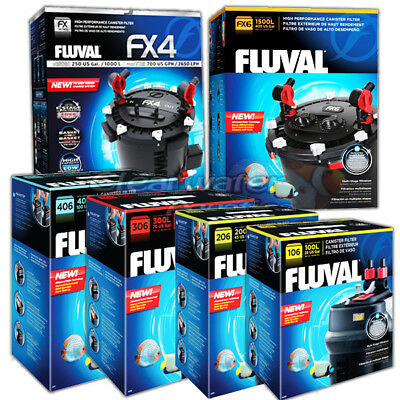 Fluval 106 206 306 406 Fx6 Fx4 External Power Water Filter Inc. Media Fish Tank