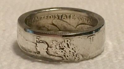 Walking Liberty Silver Half Dollar Coin Ring - Pick Your Date & Size!
