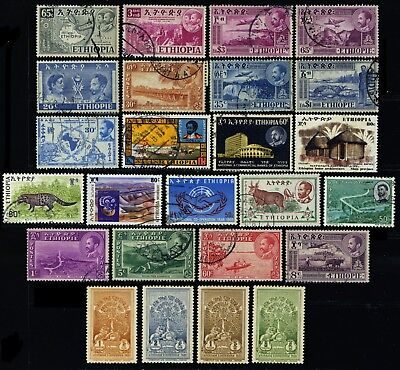 Ethiopia, 46 different, mostly fine used stamps