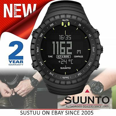 Suunto Core ALL BLACK Outdoor Military Altimeter Barometer Compass Sports Watch
