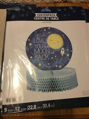 I Love You To The Moon and Back Centerpiece, Set of 6, Used Once