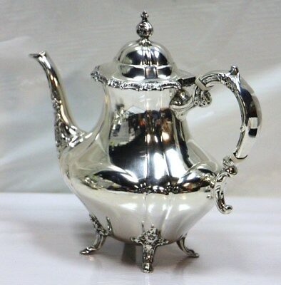 REED & BARTON GEORGIAN ROSE Sterling .925 Tea Coffee Pot 850 gram #128