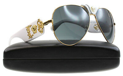 a7bfeefe1f New Versace Sunglasses Unisex Aviator VE 2150Q White 1341 87 VE2150Q 62mm  134187