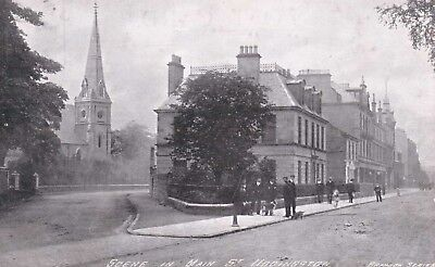 Uddingston Main Street near Bothwell original postcard posted 1904
