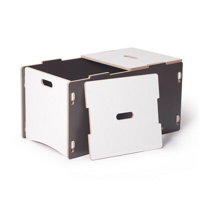 Sprout Toy Box, Grey / White - TYB001-GRY_WHT
