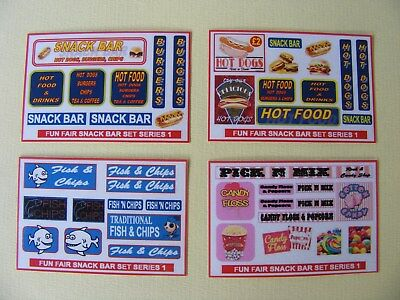 Fun Fair Snack Bar Stickers Series 1 – 4 Mini Sheets