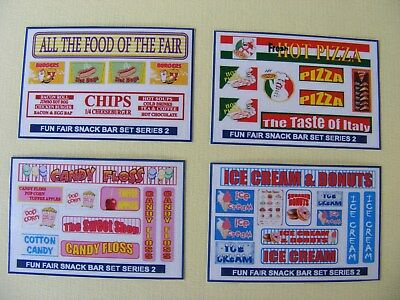 Fun Fair Snack Bar Stickers Series 2 – 4 Mini Sheets