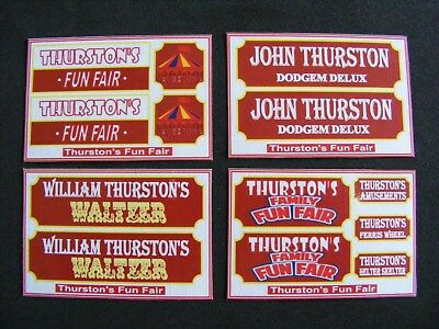 Thurston'S Fun Fair Stickers – 4 Mini Sheets
