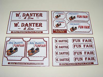 Billy Danter'S Fun Fair Stickers – 4 Mini Sheets