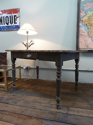 Beautifully Aged French Pine Antique Kitchen Table Vintage Circa 1890