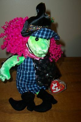 Ty Beanie Baby Scary MWMT Witch 2000 Halloween
