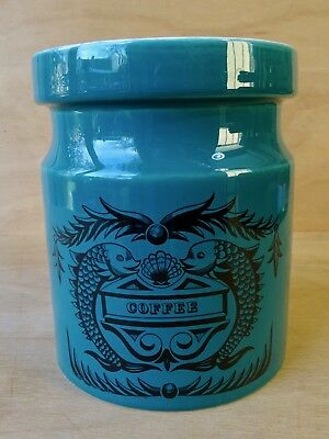 Portmeirion Dolphin Green Coffee Jar Susan William-Ellis