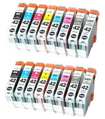 2 x CLI 42 multipacks 16 ink cartridges for Canon Pixma Pro 100 100S Non OEM