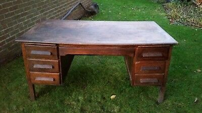 Vintage Solid  Wood Office /  School Desk  / Up-Cycle / Restoration Project