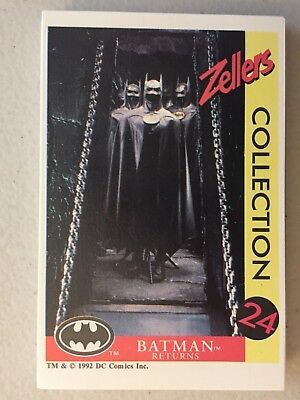 1992 Batman Returns Zellers French Set of 24 Trading Cards