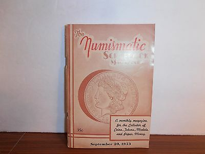 The Numismatic Scrapbook Magazine September 20, 1953 Monthly Coin Collecting
