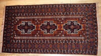 "Vintage Hand Knotted Nomadic/Tribal Rug Unused 190cm x 102cm (75"" x 40"")"