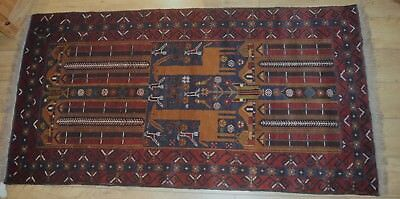 "Vintage Hand Knotted Nomadic/Tribal Rug Unused 195cm x 102cm (76.3/4"" x 40"")"