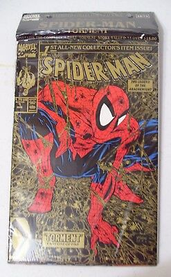 Rare & New 1-5 Spider-Man Gold Torment Collection Todd Mcfarlane