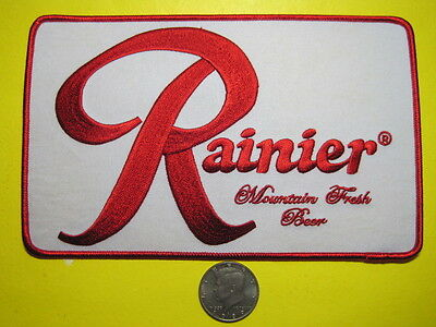 Beer Patch Rainier Mountain Fresh Beer Large Back Size Look And Buy Now*