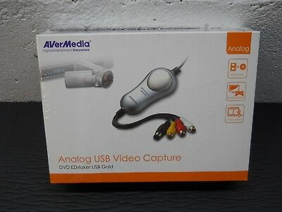 AverMedia Analog USB Video Capture DVD EZMAker USB Gold Model C038 / NEW