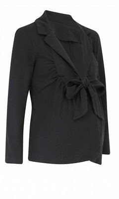Denise Van Outen Dvo Maternity Collection Stylish Black Tie Jacket Coat Size 18