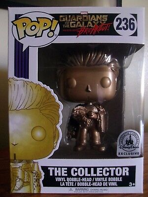 Funko Pop: Marvel #236 The Collector (Gold) Disney Parks Exclusive NIB/Near Mint